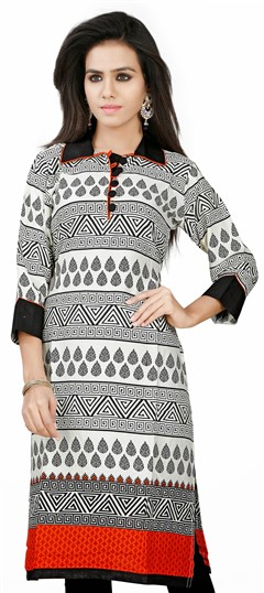 431607 Multicolor  color family Cotton Kurtis, Printed Kurtis in Cotton fabric with Printed work .