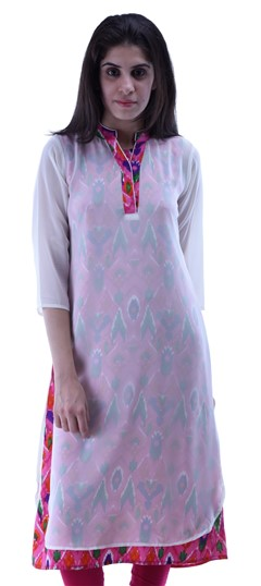 432938 Pink and Majenta  color family Kurti in Cotton,Georgette fabric with Printed work .