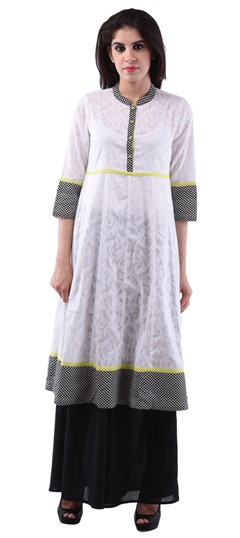 432967 White and Off White  color family Cotton Kurtis,Printed Kurtis in Cotton fabric with Printed work .