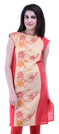 434264 Red and Maroon  color family Cotton Kurtis,Printed Kurtis in Cotton fabric with Printed work .