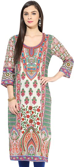 453366 Multicolor  color family Cotton Kurtis, Printed Kurtis in Cotton fabric with Printed work .