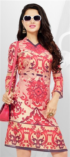 465444 Multicolor  color family Cotton Kurtis, Printed Kurtis in Cotton fabric with Printed work .