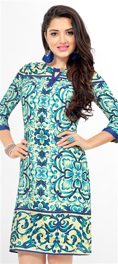 465447: Multicolor color Kurti in Cotton fabric with Printed work