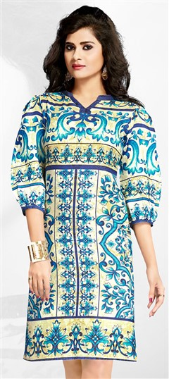 465450 Multicolor  color family Cotton Kurtis, Printed Kurtis in Cotton fabric with Printed work .