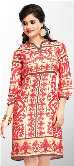 465451 Multicolor  color family Cotton Kurtis,Printed Kurtis in Cotton fabric with Printed work .