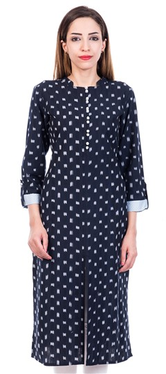 469035 Blue  color family Cotton Kurtis,Printed Kurtis in Cotton fabric with Printed work .