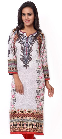 470039 White and Off White  color family Cotton Kurtis,Printed Kurtis in Cotton fabric with Printed work .