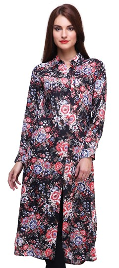 474452 Multicolor  color family Printed Kurtis in Rayon fabric with Printed work .