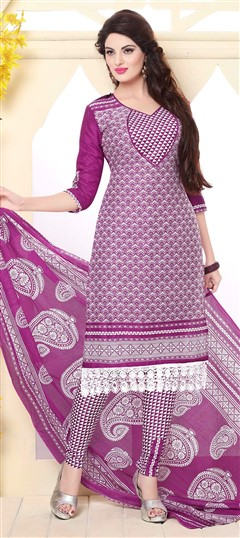 475805 Multicolor  color family Cotton Salwar Kameez, Printed Salwar Kameez in Cotton fabric with Lace, Printed work .