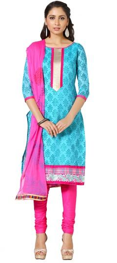 479272 Blue  color family Cotton Salwar Kameez, Printed Salwar Kameez in Cotton fabric with Printed work .
