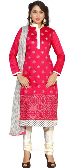 479275 Red and Maroon  color family Cotton Salwar Kameez, Printed Salwar Kameez in Cotton fabric with Printed work .