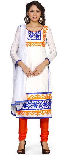 479282 White and Off White  color family Cotton Salwar Kameez,Printed Salwar Kameez in Cotton fabric with Printed work .