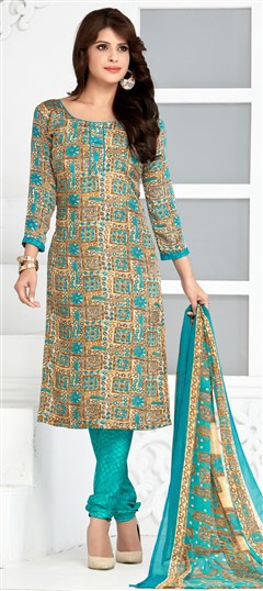 480425 Multicolor  color family Printed Salwar Kameez in Crepe fabric with Printed work .