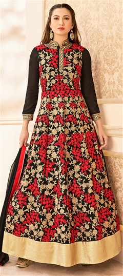 481440 Multicolor  color family Anarkali Suits in Faux Georgette, Net fabric with Machine Embroidery, Resham, Stone, Thread, Zari work .