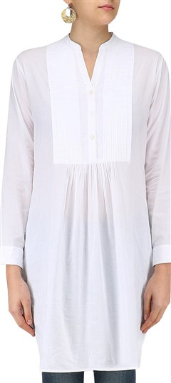 489344 White and Off White  color family Kurti in Silk fabric with Thread work .
