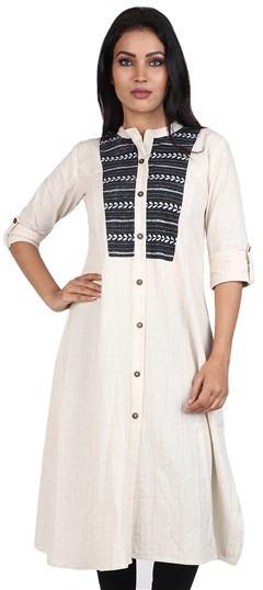 490047 Beige and Brown  color family Cotton Kurtis, Printed Kurtis in Cotton fabric with Printed work .
