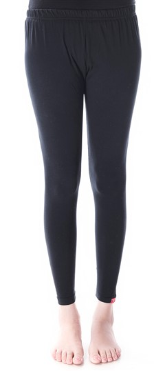 600293 Black and Grey  color family leggings in Cotton, Lycra fabric with Thread work .