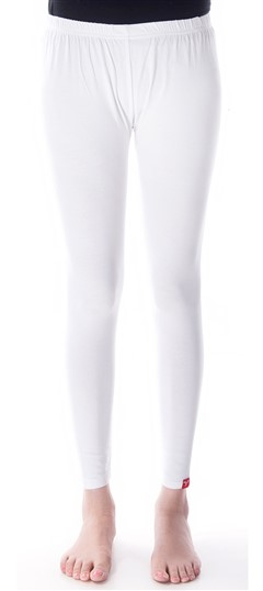 600295 White and Off White  color family leggings in Cotton, Lycra fabric with Thread work .