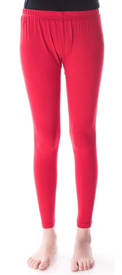 600296 Red and Maroon  color family leggings in Cotton, Lycra fabric with Thread work .