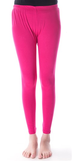600297 Pink and Majenta  color family leggings in Cotton, Lycra fabric with Thread work .