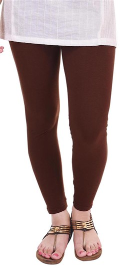 600300 Beige and Brown  color family leggings in Lycra fabric with Thread work .
