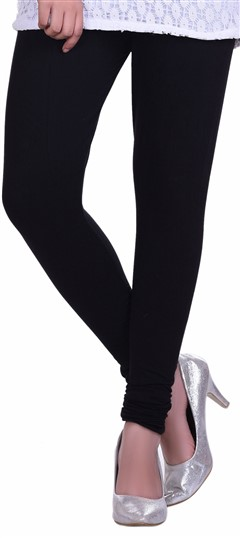 600596 Black and Grey  color family leggings in Lycra fabric with Thread work .
