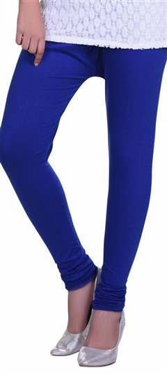 600597 Blue  color family leggings in Lycra fabric with Thread work .