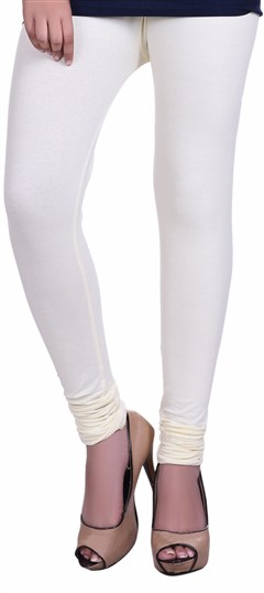 600598 Beige and Brown  color family leggings in Lycra fabric with Thread work .
