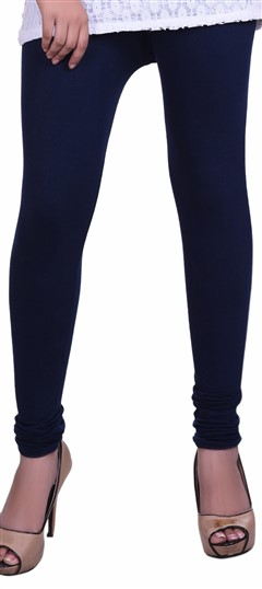 600602 Blue  color family leggings in Lycra fabric with Thread work .