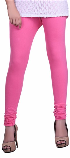 600606 Pink and Majenta  color family leggings in Lycra fabric with Thread work .