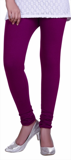 600607 Purple and Violet  color family leggings in Lycra fabric with Thread work .