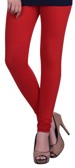 600608 Red and Maroon  color family leggings in Lycra fabric with Thread work .