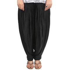 600810 Black and Grey  color family Patiala in Lycra fabric with Thread work .