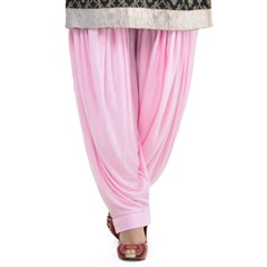 600812 Pink and Majenta  color family Patiala in Lycra fabric with Thread work .
