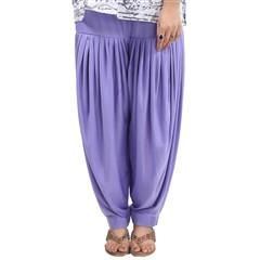 600822 Purple and Violet  color family Patiala in Lycra fabric with Thread work .
