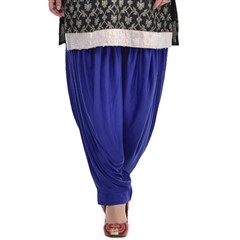 600824 Blue  color family Patiala in Lycra fabric with Thread work .
