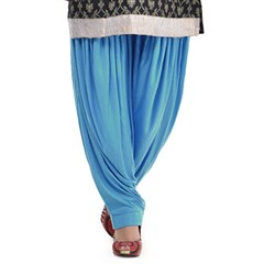 600826 Blue  color family Patiala in Lycra fabric with Thread work .