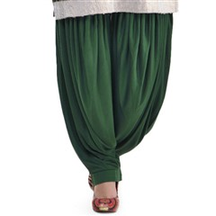 600827 Green  color family Patiala in Lycra fabric with Thread work .