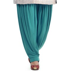 600829 Blue  color family Patiala in Lycra fabric with Thread work .