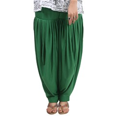 600833 Green  color family Patiala in Lycra fabric with Thread work .