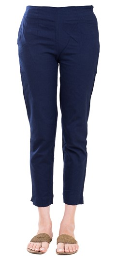 600836 Blue  color family Jeggings in Rayon fabric with Thread work .