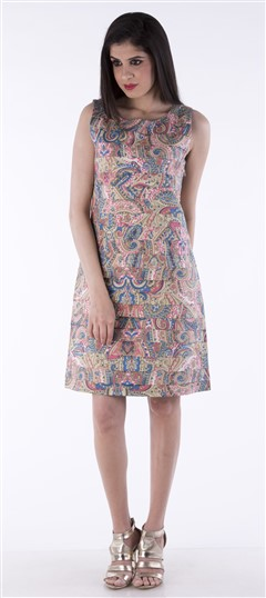 650002 Multicolor  color family dress in Cotton fabric with Printed work .