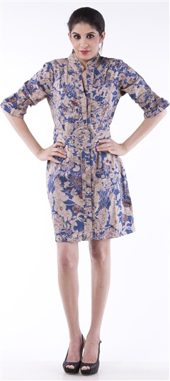 650008, dress, Cotton, Printed, Blue Color Family