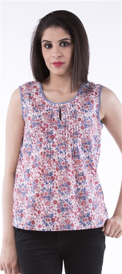 650014, Tops & Shirts, Cotton, Floral, Printed, Multicolor Color Family