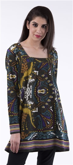 650023, Tops & Shirts, Cotton, Printed, Multicolor Color Family