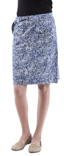 650038, skirt, Cotton, Printed, Blue Color Family