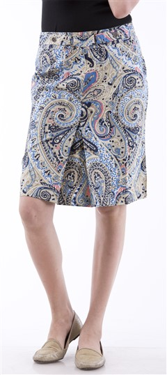 650040 Multicolor  color family skirt in Cotton fabric with Printed work .