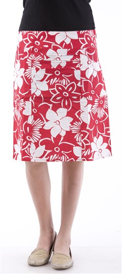 650044 Red and Maroon  color family skirt in Cotton fabric with Printed work .