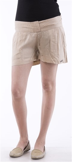 650046 Beige and Brown  color family Shorts in Cotton fabric with Thread work .