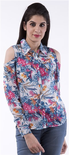 650051, Tops & Shirts, Cotton, Printed, Multicolor Color Family